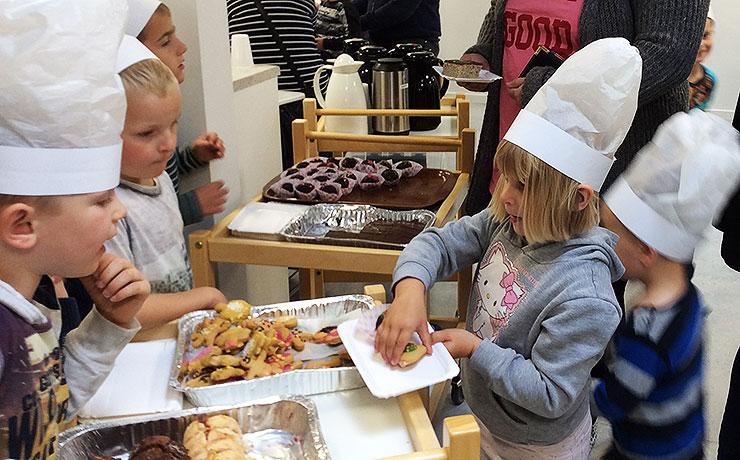 Sønderholm Børnehave bagte for en god sag.