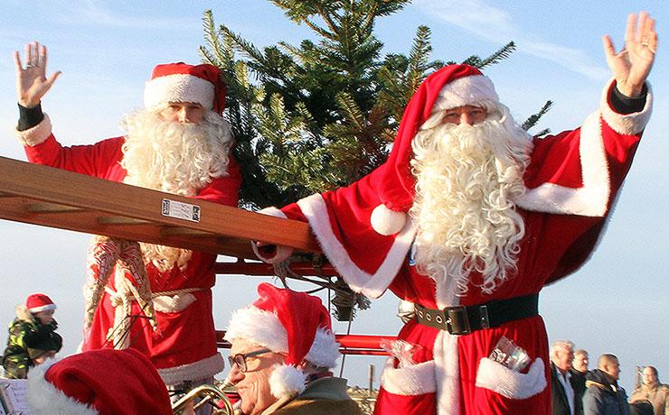 Julemanden kommer atter med skib til Nibe
