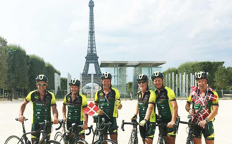Tour de Taxa: Cykelturen til Paris er fuldført