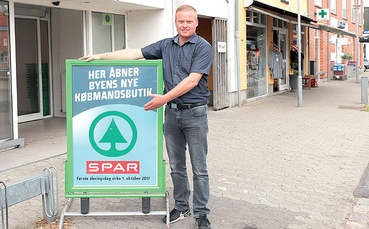 Spar-købmand åbner nu på Skomagertorvet