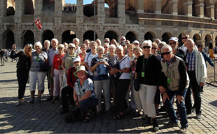 36 fra Ældre Sagen i Nibe på besøg i Rom
