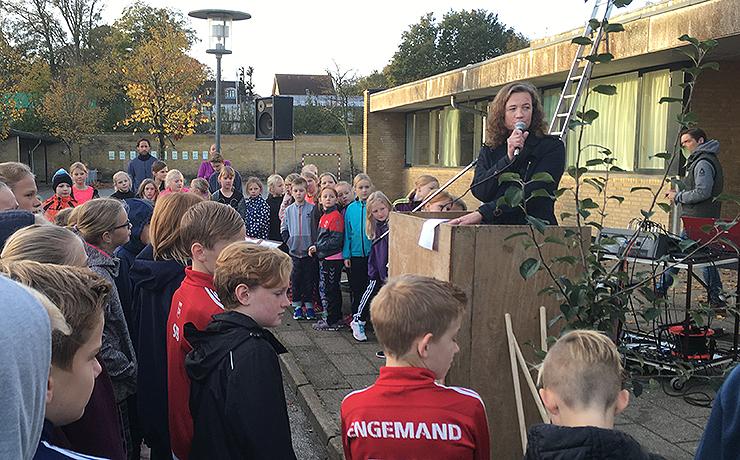 Frejlev Skole markerer bæredygtigheden i kommunen