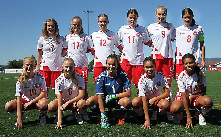 Frejlev-piger på dansk landshold sejrede i Norge