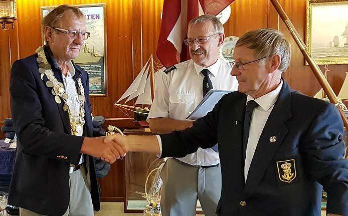 Holger Stefansen blev den nye fregatkaptajn