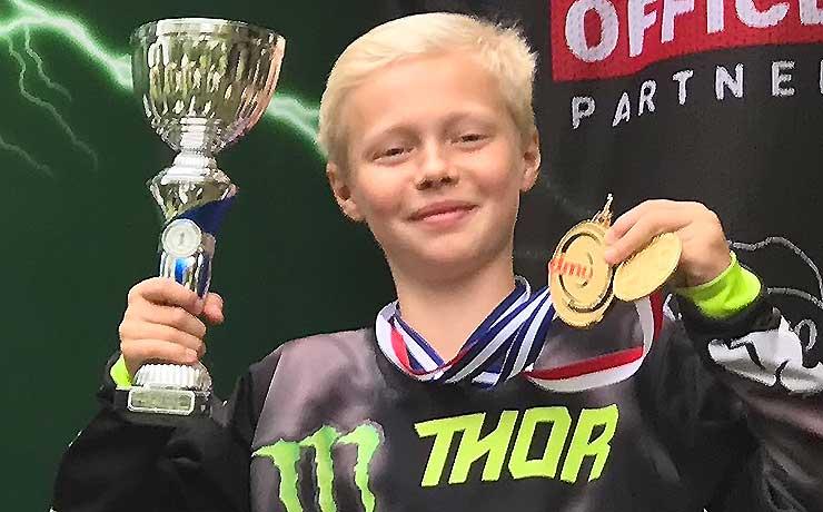 Mikkel Kurdahl fra Nyrup vinder the double