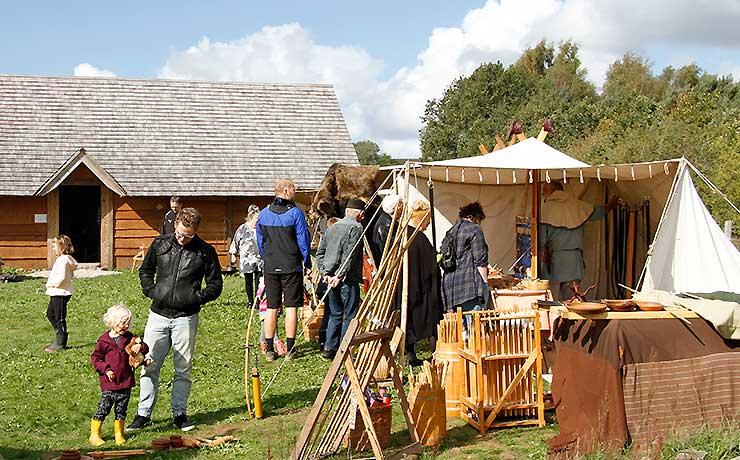 Velbesøgt Vikingemarked i Sebbersund