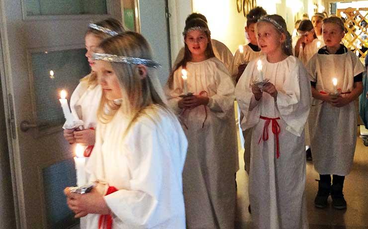 Lucia optog på Solsidecentret i Nibe