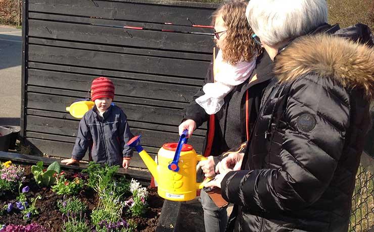 Børnehus i Nibe plantede egen Børne Have