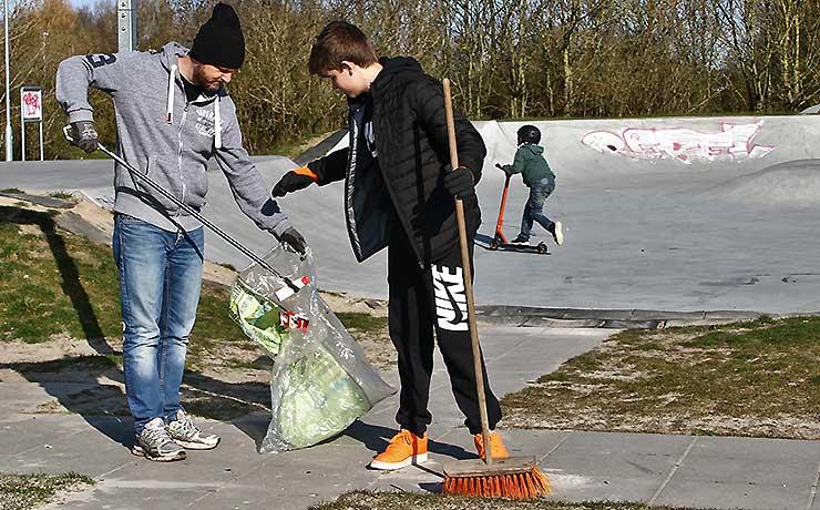 Borgere og foreninger samlede affald i Nibe