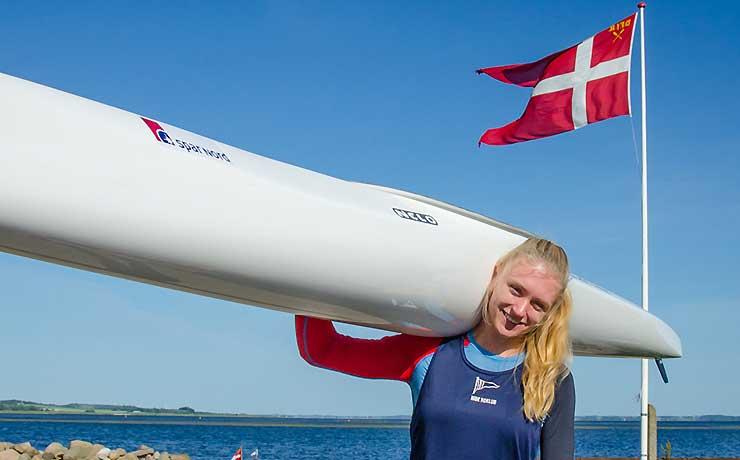 DM-sølv til Lærke i 1000 meter kajak sprint