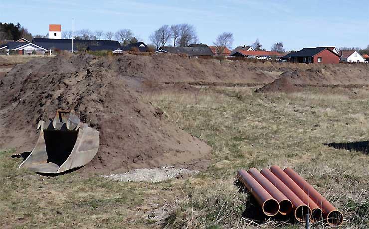 Vejanlæg og grunde i Farstrup
