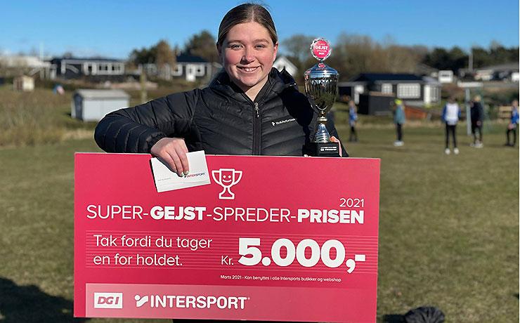 Anne Sofie -håndboldtræner fra Nibe - vinder Super-Gejst-Spreder-Prisen