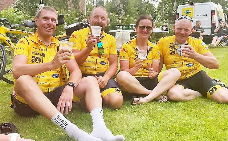 Solen skinner på Team Rynkebys rute
